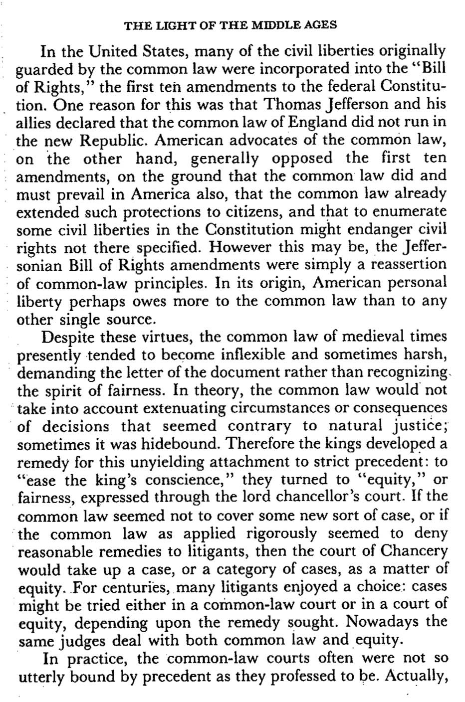 Origin of the Bill of Rights and the Common Law
