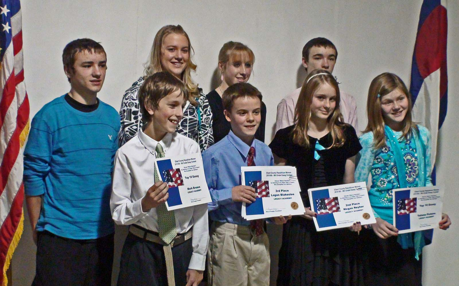 Middle School Contestants