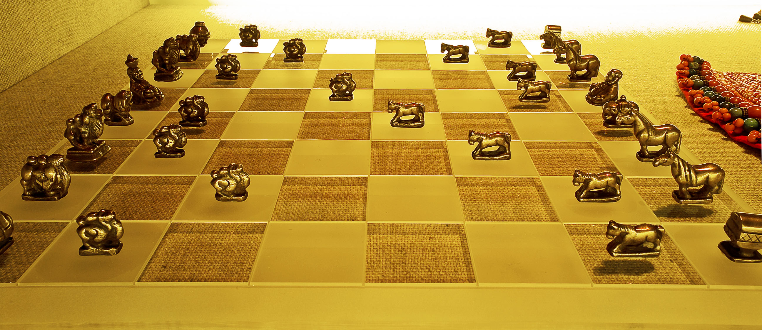 Shanghai museum Mongol chess set