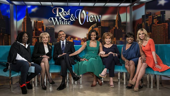 Obamas on the View