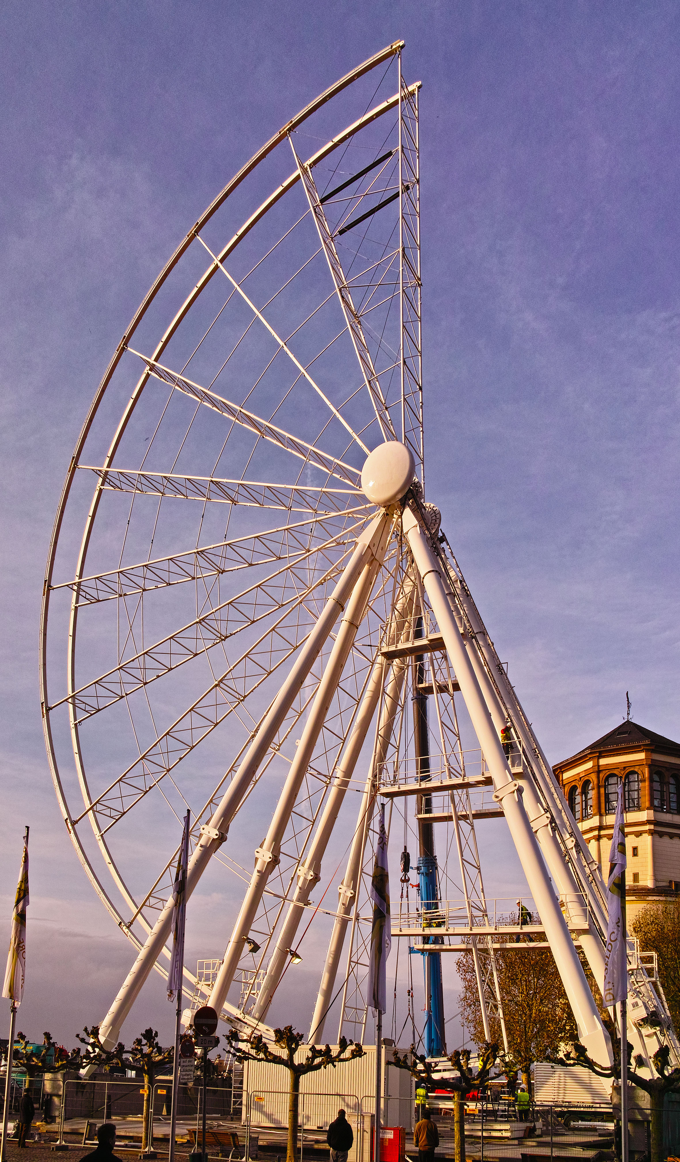Gibbous Ferris Wheel, going up for the holidays
