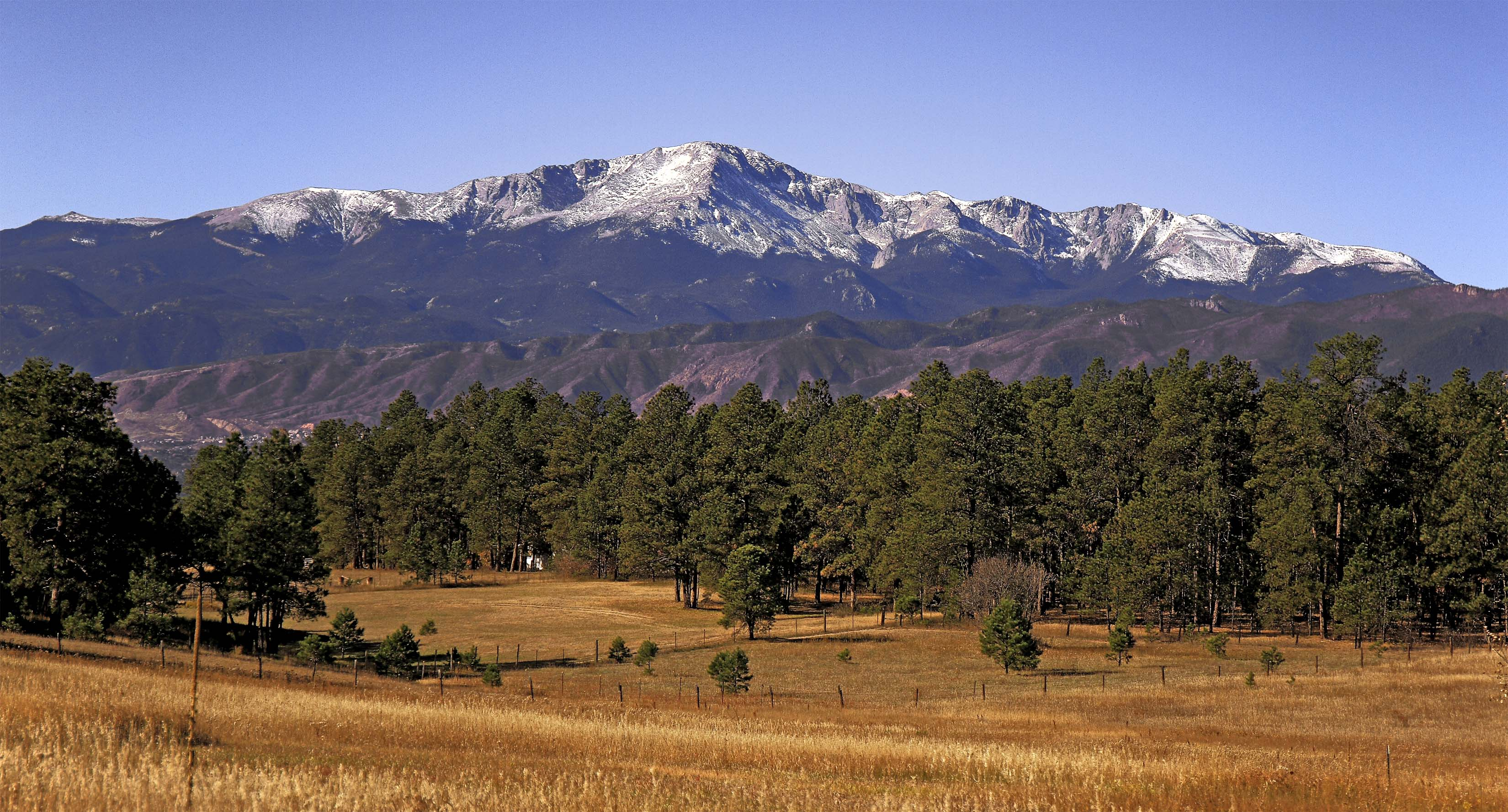 Pikes Peak from Black Forest 10-25-2014