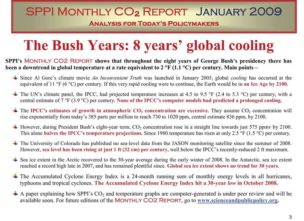 8 years of global cooling