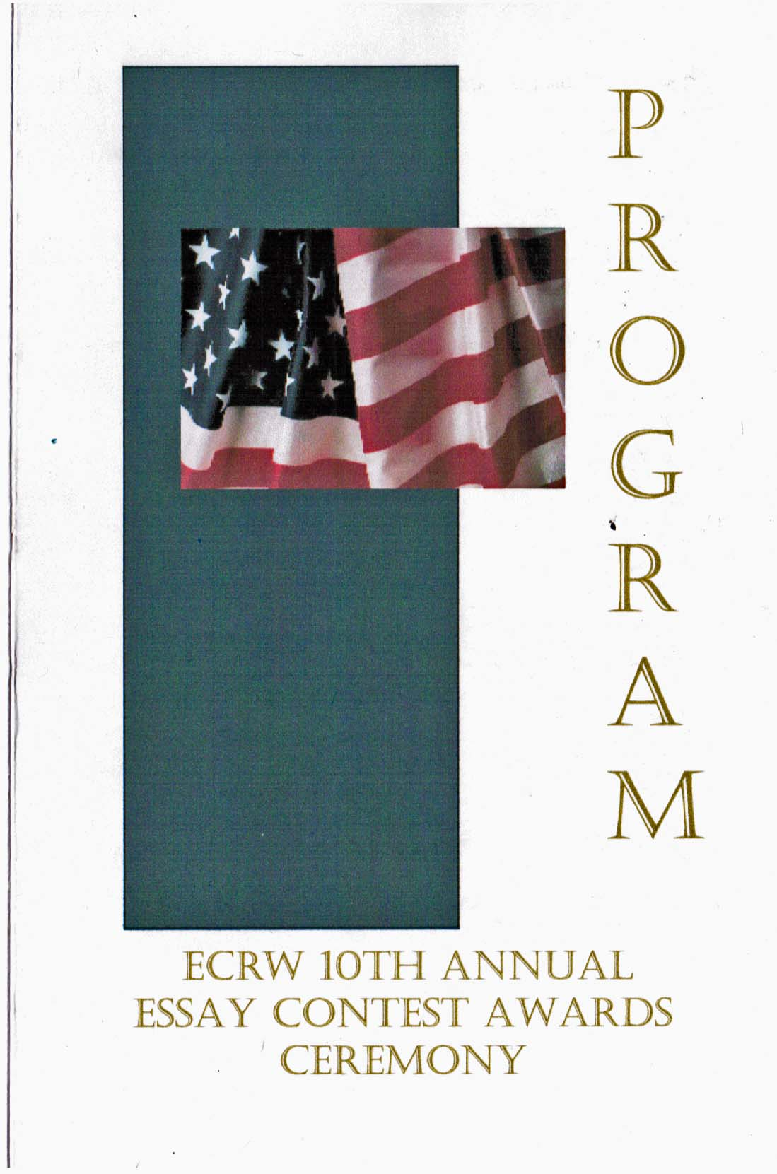 2011 ECRW Essay Contest Program Cover