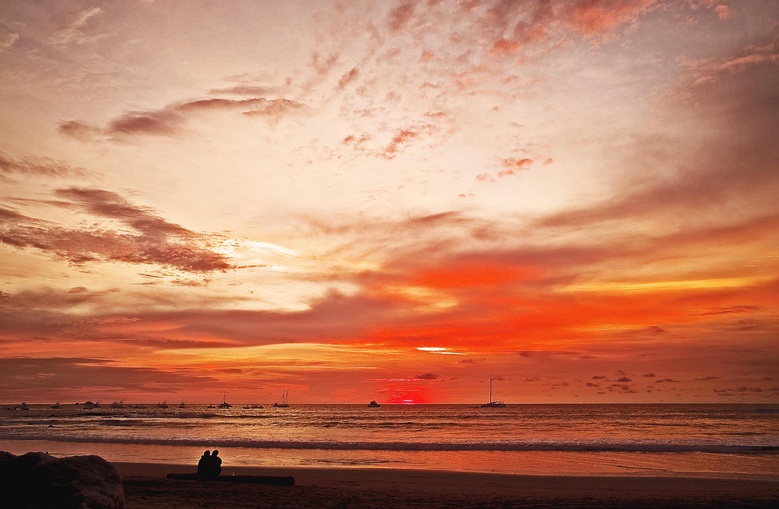 Sunset at Playa Tamarindo, Costa Rica, 5/24/11