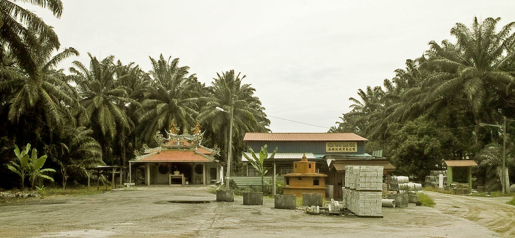 Taoist temple and brickyard