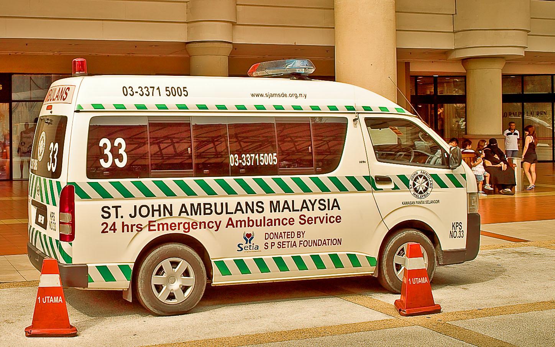 ambulance at mall