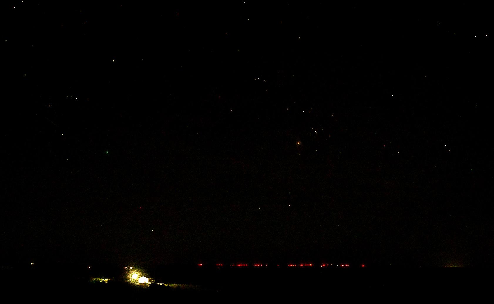 Cedar Point Wind Farm at night