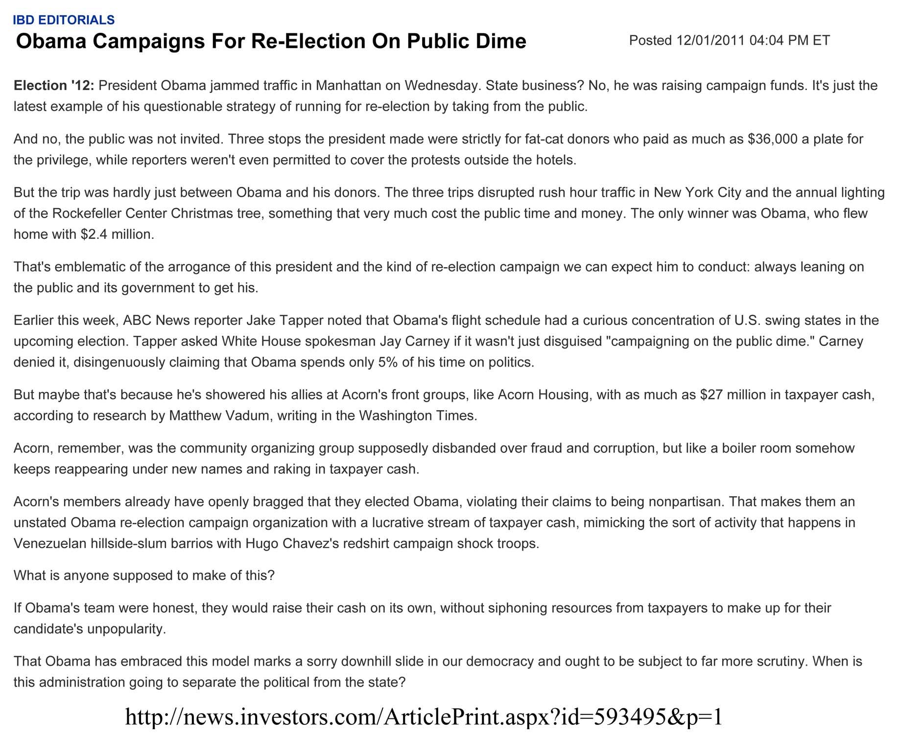 On The Public Dime