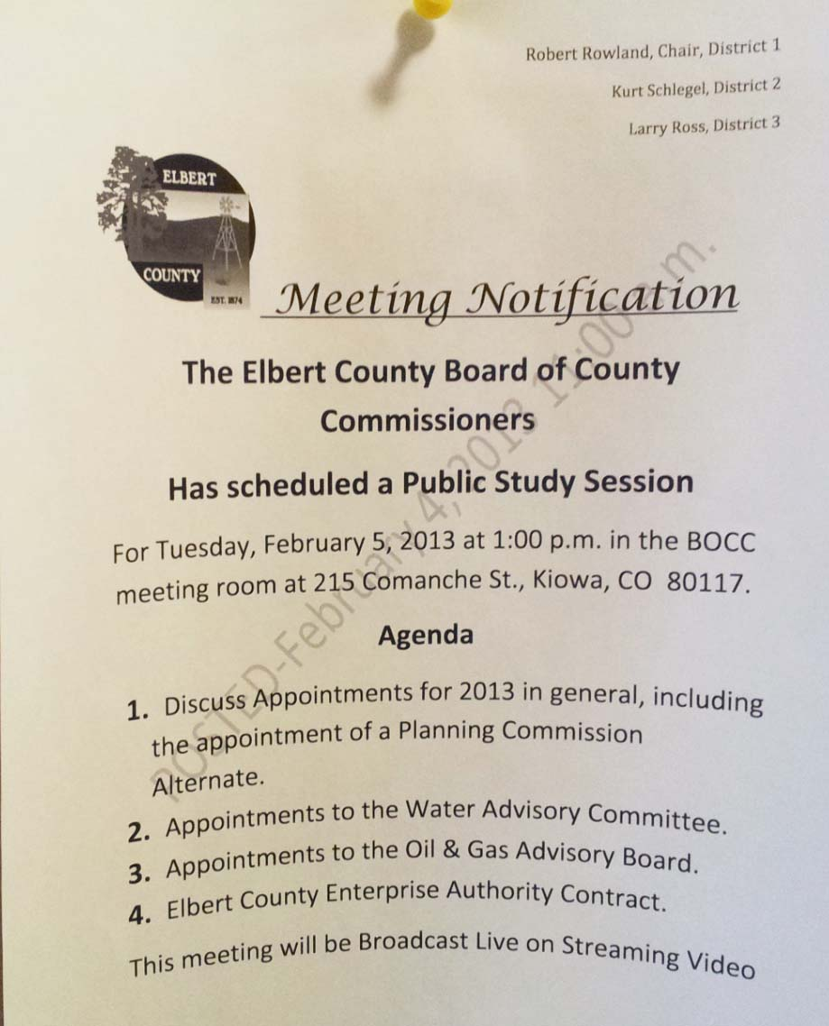BOCC 2-5-2013 meeting notice