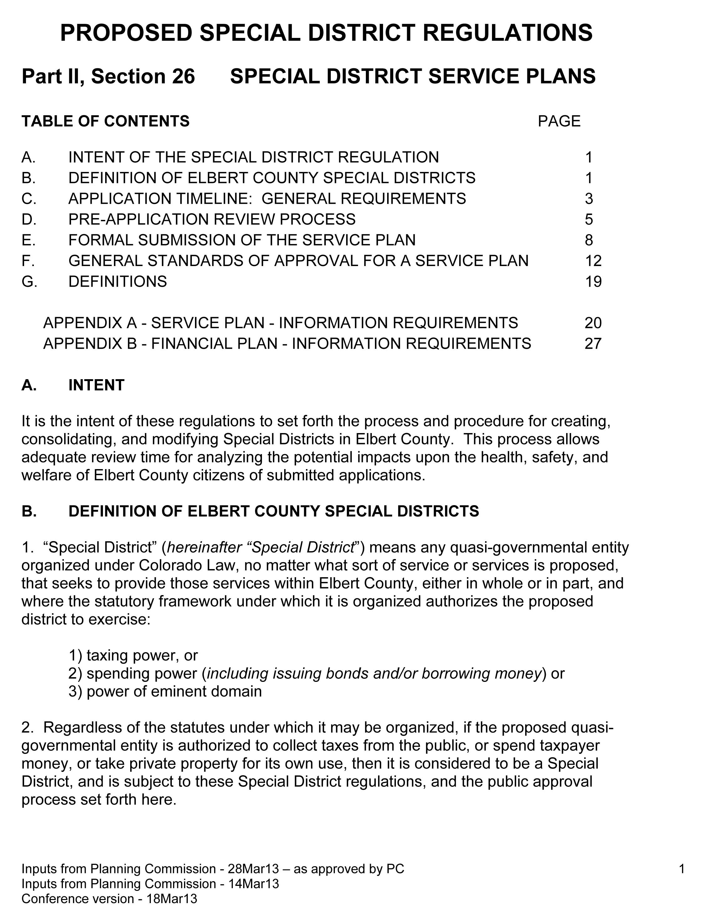 Reflects as approved by PC 13048 BOCC edited version xii Ric M_ Special District Reg_Conference version of 10Apr13 for BOCC hearing_3Apr13-1